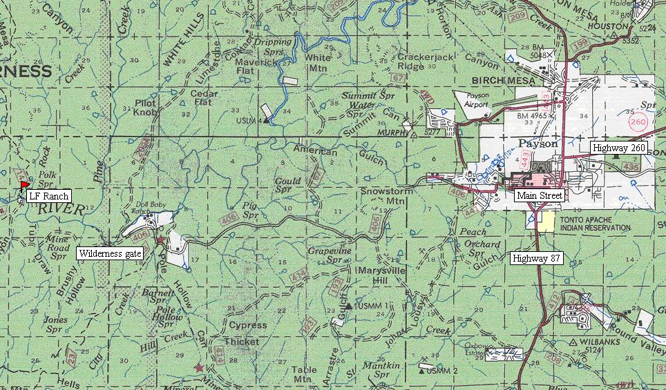 az forest service road maps images